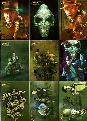 2008 Topps Indiana Jones The Kingdom Of The Crystal Skull 9 of 10 Card Foil Set
