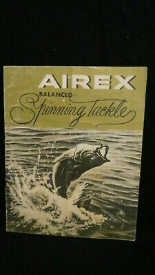 Vintage Airex Spinning Tackle - 1956 16pg - Fishing Reels Casting Rods Knots