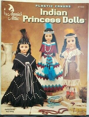 Plastic Canvas Indian Princess Dolls Annie's Attic 871532 Native American Uhlig