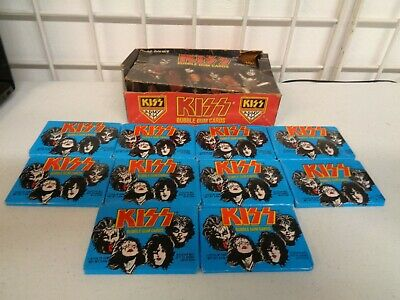 Vintage 1978 Donruss Kiss Series 1 Trading Cards Box + 10 Unopened Sealed Packs