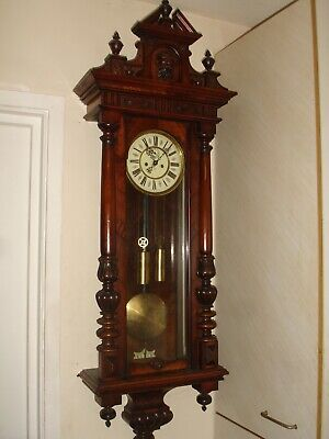19Th Century Vienna Wall Clock Regulator  By Regulatorfabrik (Becker)-- Video--