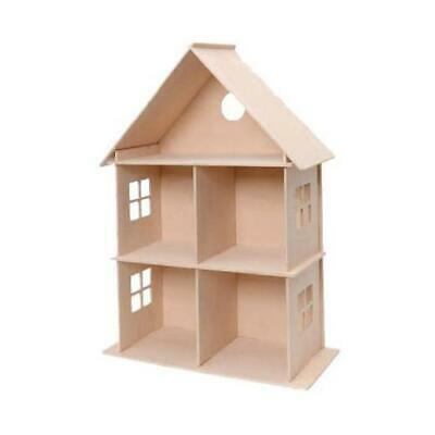 Stafil DIY Flat Pack Open Front Wooden Dollhouse