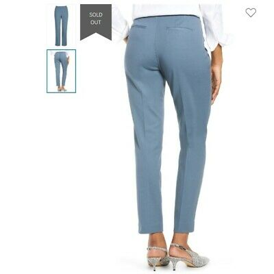 NWT Vince Camuto Front Zip Ankle in Core Blue Stretch Cotton Crop Pants 14W