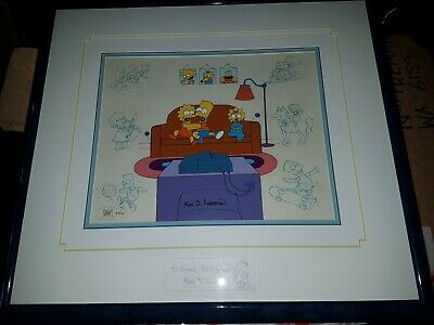 Simpsons Hand Painted Cel Animation Art