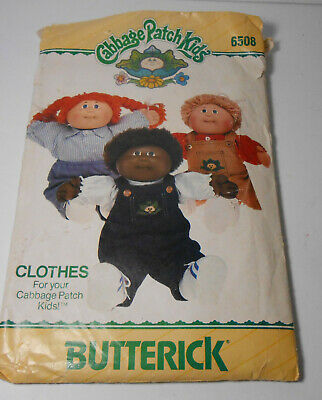 Butterick 1984 Cabbage Patch Doll Clothes Sewing Pattern 6508 Overalls  shirts