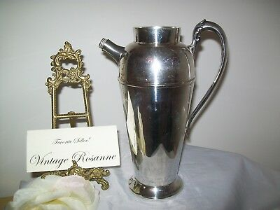 Silver Plated Pitcher Victorian Plate Canada Vintage Coffee Martini Serve Vase