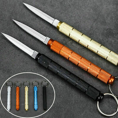 Outdoor Stainless Blade EDC Pocket Folding Knife Keychain Survival Mini Tool`