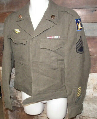 Vintage Wwii Us Army 2Nd & 8Th Air Corps Staff Sergeant Ike Jacket 1944 L@@K
