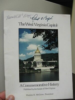1982 West Virginia Capitol 50th Annv. Program Signed by U.S. Senator Robert Bryd