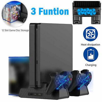 for PS4 /PS4 Pro Vertical Stand Cooling Fan Controller Charging Dock Station