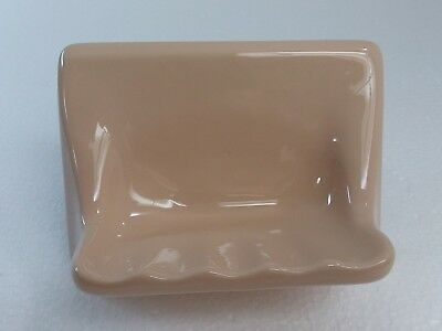 Vintage Peach Ceramic Soap Dish Tray Candlelyght Color 288 Mid Century Retro