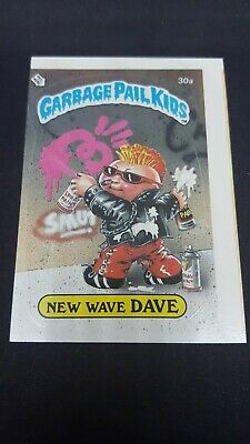 1985 Topps Garbage Pail Kids 30a New Wave DAVE Series 1 Free Shipping!