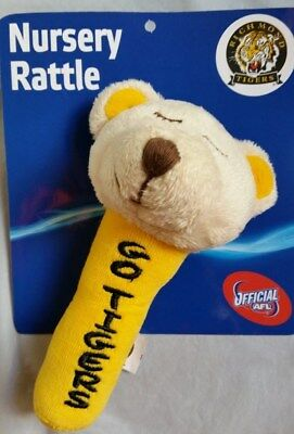Brand New Official AFL Nursery Rattle RICHMOND TIGERS 15cm