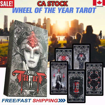 NEW 78 Dark Tarot Cards Deck Divination Personal Board Game English 2019 HOT CA