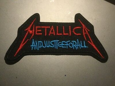 "Metallica and Justice for All Embroidered Iron On Patch 3.5""x2.5"""