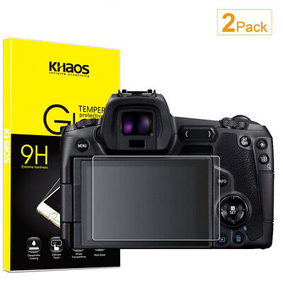 2-Pack Khaos For Canon EOS R Tempered Glass Screen Protector