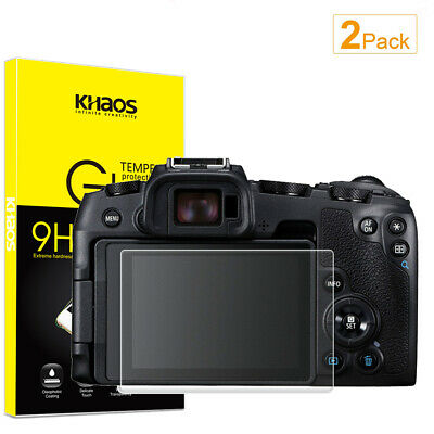 2-Pack Khaos For Canon EOS RP Tempered Glass Screen Protector