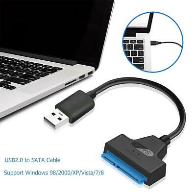 USB 2.0 to SATA 22pin Adapter Converter Cable for 2.5 inch SSD/HDD Hard Drives