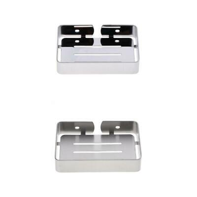 2Piece Bathroom Stainless Soap Dish Holder Tray Wall Mounted Sponge Holder