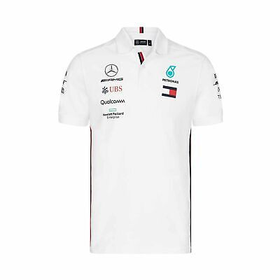 2019 Mercedes AMG Motorsport F1 Team Mens Polo Shirt White size S NEW