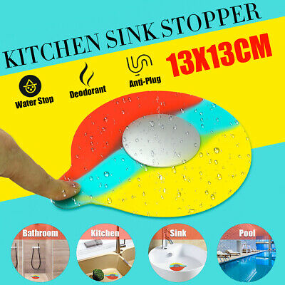 Colorful Universal Silicone Floor Drain Water Stopper Plug Kitchen Bathtub Sink
