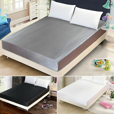 1000TC Microfibre Ultra SOFT Silky Satin Fitted Sheet Fitted Flat 150/18×200CM
