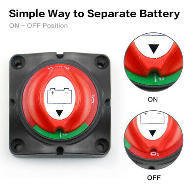 Car Yacht Disconnect Kill Switch Master Isolator Battery Power Off Switch Knob