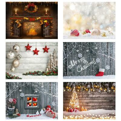 UK Christmas Photo Photography Props Background Cloth Vinyl Backdrop For Studio
