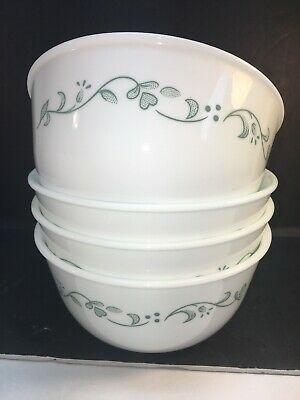 Corelle Vitrelle  Set of 4 Deep 28-oz Bowls Soup/Chilli/Cereal Made in USA EUC