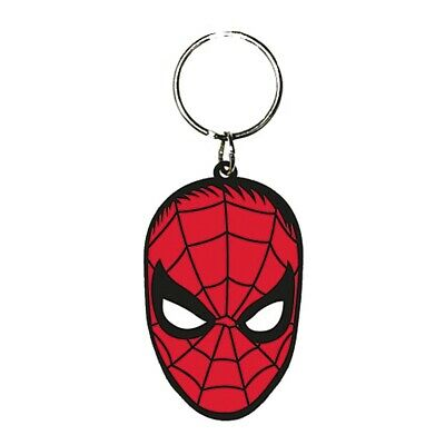 Genuine Marvel Comics The Amazing Spider-Man Face Rubber Keyring Key Chain Fob