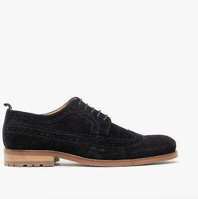 Catesby Shoemakers CHESTER Mens Suede Leather Derby Lace Up Brogue Shoes Navy