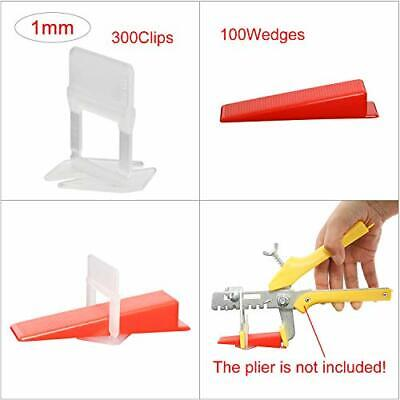 New 300//400x Tile Leveling System Clips Kit Wall Floor Spacer Wedges Tiling Tool