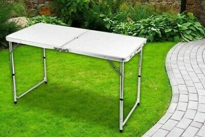 Heavy Duty Folding Table Portable Plastic Camping Garden Party Catering 4Ft