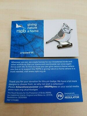 RSPB Pin Badge | crested tit  GNAH BLUE (01490)