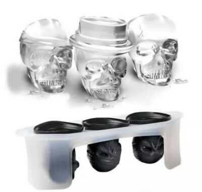SKULL x 3 Styles Silicone Mould Mold: Soap / Candle , Resin, Halloween