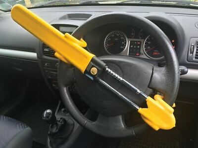 SW Heavy Duty Car Van Steering Wheel Lock High Security Anti Theft Twin Bar Hook