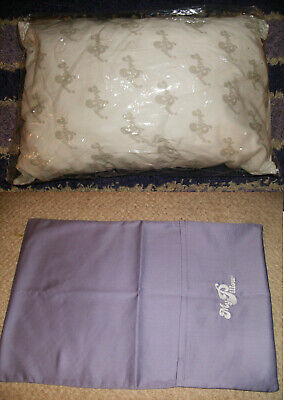 """2PC GO ANYWHERE MY PILLOW & LILAC CASE 12"""" x 18"""" WASH & DRY AS SEEN ON TV TRAVEL"""
