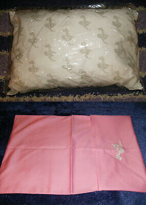 """2 PC GO ANYWHERE MY PILLOW & PINK CASE 12"""" x 18"""" WASH & DRY AS SEEN ON TV TRAVEL"""