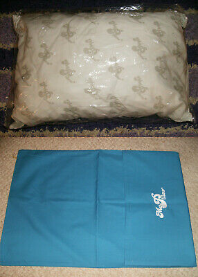 """2 PC GO ANYWHERE MY PILLOW & BLUE CASE 12"""" x 18"""" WASH & DRY AS SEEN ON TV TRAVEL"""