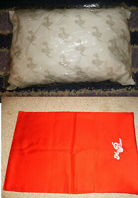 """2 PC GO ANYWHERE MY PILLOW & RED CASE 12"""" x 18"""" WASH & DRY AS SEEN ON TV TRAVEL"""