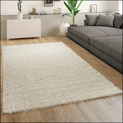 Rug Deep-Pile Shaggy Beige Living Room Bedroom Comfortable Soft Robust