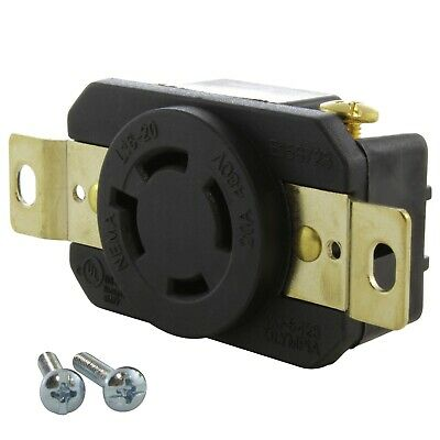 20 Amp 3-Phase 480 Volt NEMA L16-20R DIY Replacement Outlet by AC WORKS®