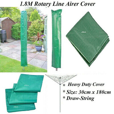 1.8M Long Heavy Duty Rotary Washing Line Cover Clothes Material Draw String New
