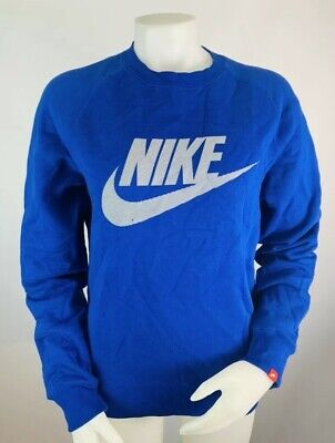 Nike Tech Small Women's Crewneck Sweatshirt Pull Over Spell Out Sweater