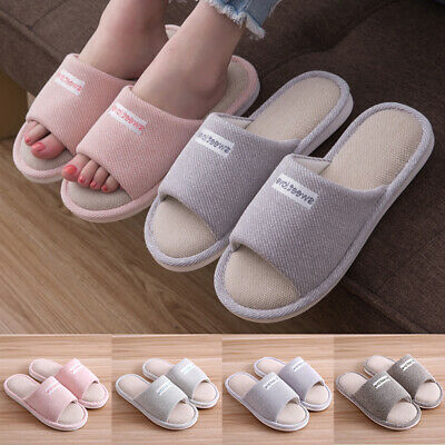 Men Womens Warm Soft Indoor Slippers Cotton Sandal Houses Home Anti-slip Shoes