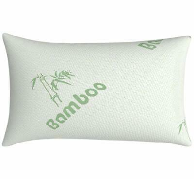 Anti Bacterial Bamboo Memory Foam Pillow Orthopaedic Firm Head Neck Back Support