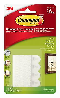 3M Command Small Strips Adhesive Picture Poster Hanging Strips Damage Free Wall