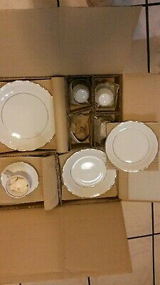 Fine China 60 piece set by Baum, service for 12, 5 pieces per setting NEW cond.