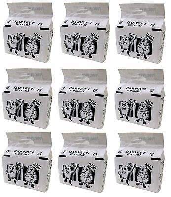 Harveys Salt Block 9 pack 18 blocks - for water softening - Kinetico in Harvey