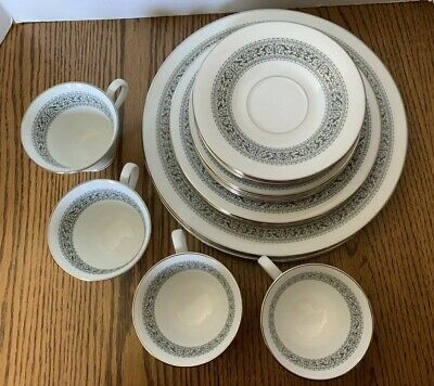 OXFORD LENOX 4, 5 Piece Place Settings Bone China Set FILIGREE PATTERN